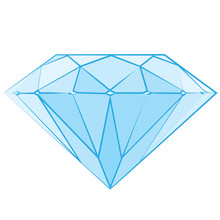Logo de diamant, logotype de luxe