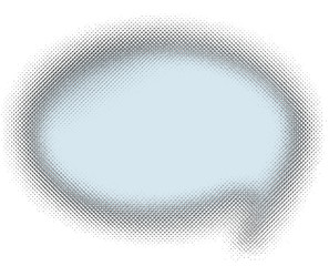 blue halftone speech bubble