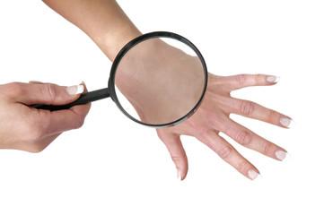 Haut untersuchen