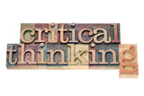 critical thinking in wood type poster