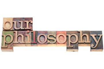our philosophy in wood type