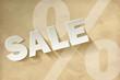 Sale Vintage Papier weiss Prozent