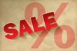 Sale Vintage Papier rot Prozent