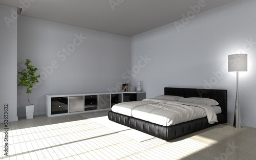 canvas print picture modern bedroom interior - Wohndesign - Schlafzimmer