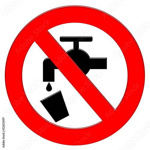 Divieto rubinetto