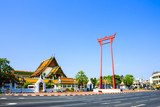 The giant swing (Sao Ching Cha) and Wat Suthat temple in Bangkok