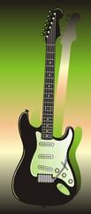 E Gitarre grün