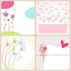 set of Greetings Cards