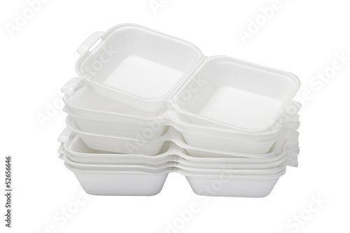 Open Styrofoam Boxes