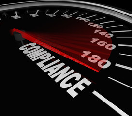 Compliance Speedometer Rules Regulations Standards