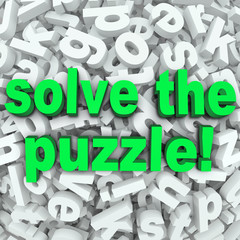 Solve The Puzzle Word Search Jumble Difficult Letter Challenge