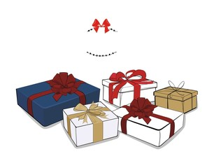 giftboxes - vector drawing