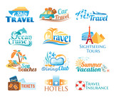 Travel icons (vector in cmyk colors)