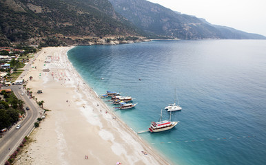 Fethiye Belcekiz (Ölüdeniz) Coast and beach from paragliding