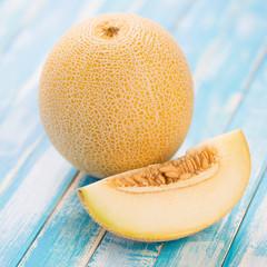Fruits: Galia melon, studio shot