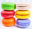 Colorful macaroons, close-up