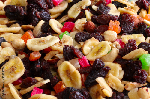 mixture dried fruits as element profit health meal