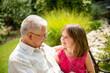 Joyous life - grandfather with grandchild