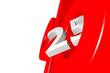 Prozentzeichen_25% - 3D