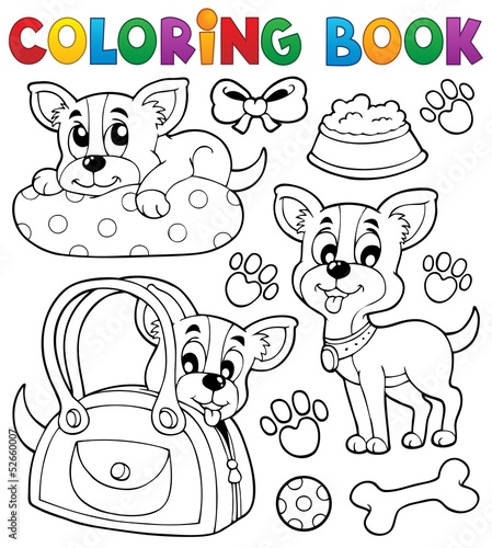 Coloring book dog theme 8
