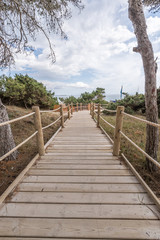 Beach way to Salinas beach in Formentera Balearic islands