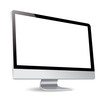 computer silde display white background