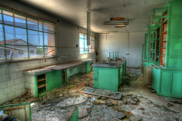 Vandalized laboratory, Abandoned sugar factory