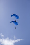 stacked parachute divers poster