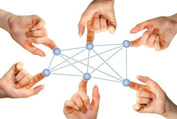 Hände Social Network