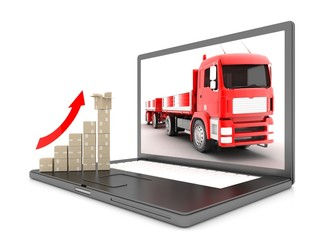 laptop, the schedule for delivery of cargo