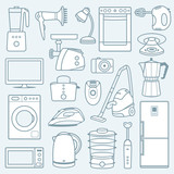 Home appliances a background poster