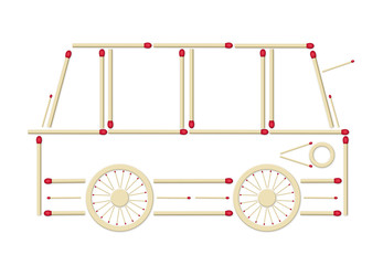 bus made of matches