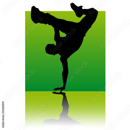 break dancer square green