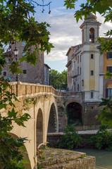 Roma, isola Tiberina (veduta)