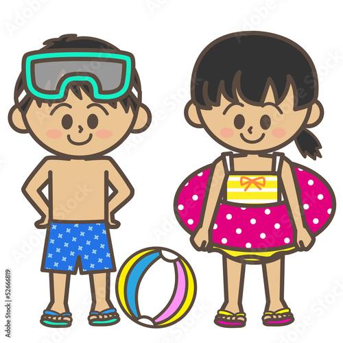 子供 水着 日焼け