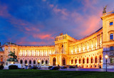 Vienna Hofburg Imperial Palace at night, - Austria