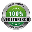 5 Star Button grün 100% VEGETARISCH FZ FZ
