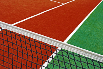 Synthetic sports field for tennis 16