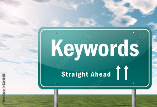 "Highway Signpost ""Keywords"""