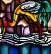 Beautiful stained glass bird - 52669646