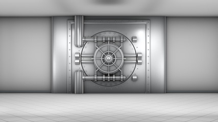 Bank vault door opening
