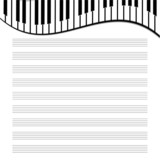 music paper is decorated by the keys