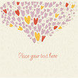 Cute vector background of love and hearts