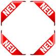 """4 Banner """"Neu"""" rot"""