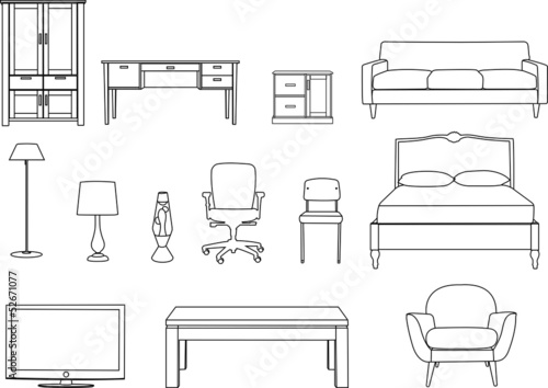 how to draw 3d furniture