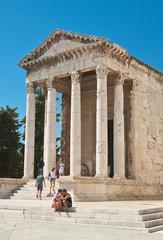 Ancient temple of Emperor Augustus. Pula. Istria. Croatia