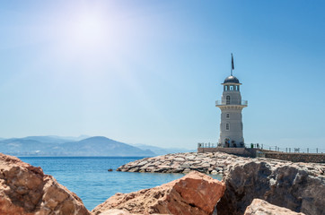 lighthouse by the sea in Alanya, Turkey