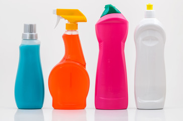 Household Cleaning Bottles 01-Blank