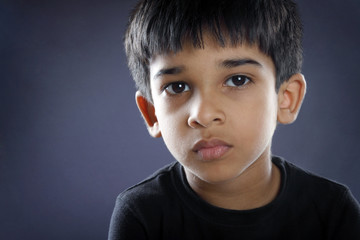 Depressed Indian Little Boy