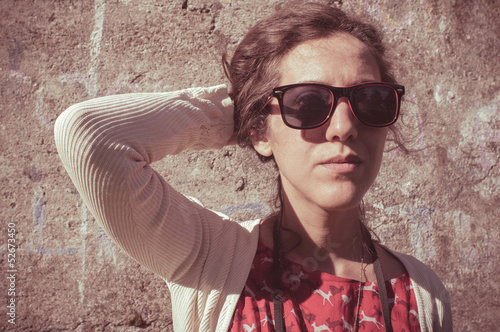 eastern hipster vintage woman with shades